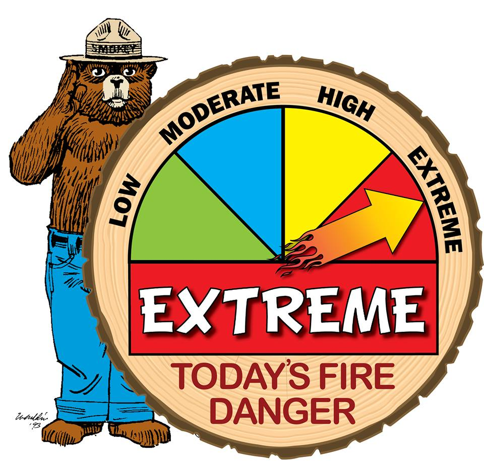 Extreme Fire Danger Rating, beginning Saturday, 9/5   Research Forests